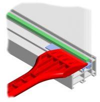 Postavljanjem podloški težina stakla raspoređuje se po cijelom okviru. Pored toga, preko podloški se sile koje djeluju na staklenu površinu prenose na okov i preko njega u zid i tako je osigurana neometana pokretljivost krila. Osim toga podlaganjem stakla se sprečava dodir ruba stakla sa okvirom. Težina stakla prenosi se preko nosivih podloški na konstrukciju krila. Razmak između ruba stakla i krila održavaju podloške – držači razmaka, koje već prema načinu otvaranja krila preuzimaju nosivu funkciju.